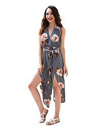 cheap -Women's Going out / Holiday Jumpsuit - Floral V Neck