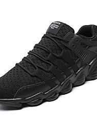 Недорогие -Муж. Сетка / Ткань Осень Удобная обувь Кеды Беговая обувь / Для прогулок Белый / Черный / Серый