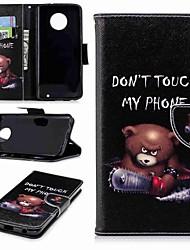 Недорогие -Кейс для Назначение Motorola MOTO G6 / Moto G6 Plus Кошелек / Бумажник для карт / со стендом Чехол Слова / выражения Твердый Кожа PU для