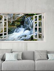 abordables -Autocollants muraux décoratifs / Autocollants de frigo - Autocollants muraux 3D Paysage / 3D Extérieur / Bureau