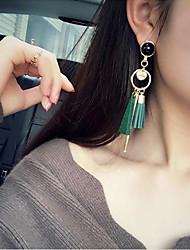 cheap -Tassel / Long Drop Earrings - Tassel, Korean, Fashion Black / Green For Party