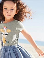 Недорогие -Дети / Дети (1-4 лет) Девочки Пэчворк С короткими рукавами Футболка