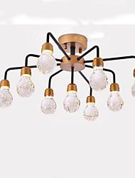 cheap -QIHengZhaoMing 9-Light Cluster Chandelier Ambient Light - Crystal, 110-120V / 220-240V, Warm White, LED Light Source Included / 15-20㎡