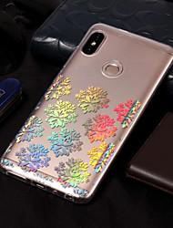 baratos -Capinha Para Xiaomi Redmi Note 5 Pro / Redmi 5A Galvanizado / Estampada Capa traseira Lace Impressão Macia TPU para Xiaomi Redmi Note 5