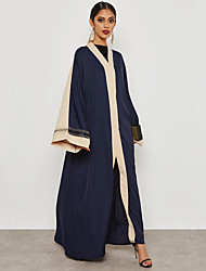 cheap -BENEVOGA Women's Street chic / Sophisticated Abaya - Creative / Color Block / Flocking, Patchwork / Embroidered