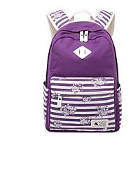 cheap -Women's Bags Canvas School Bag Zipper Blue / Black / Purple