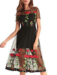 cheap -TS - Dreamy Land Women's a line dress - floral knee-length