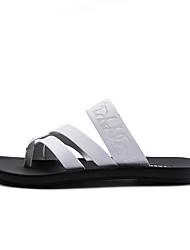 Недорогие -Муж. Полиуретан Лето Удобная обувь Тапочки и Шлепанцы Белый / Черный