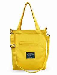 baratos -Mulheres Bolsas Tela de pintura Bolsa de Ombro Ziper para Ao ar livre Preto / Rosa / Amarelo