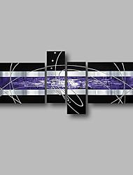Недорогие -Hang-роспись маслом Ручная роспись - Абстракция / Пейзаж Современный холст