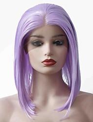 billige -Syntetisk Lace Front Parykker Lige Bob frisure 150% Menneskelige hår tæthed Syntetisk hår Blød / Varme resistent / Dame Lilla Paryk Dame Kort Blonde Front Lavendel