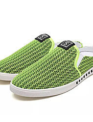 cheap -Men's Shoes Tulle / Fabric Summer Comfort Clogs & Mules Black / Green / Black / White