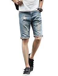 お買い得  -男性用 ベーシック / ストリートファッション ショーツ / ジーンズ パンツ ソリッド