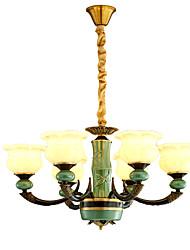 abordables -ZHISHU 6-luz Estilo de vela Lámparas Araña Lámpara Torchiere de Pie - Ajustable, 110-120V / 220-240V Bombilla incluida / 10-15㎡