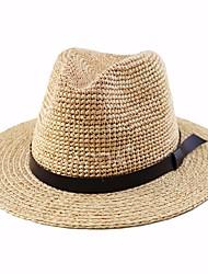 Недорогие -Муж. Винтаж Соломенная шляпа Шляпа от солнца - Сетка Лён, Однотонный Гусиная лапка