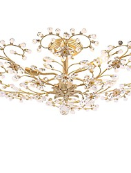 economico -QIHengZhaoMing 6-Light Cristalli Lampadari Luce ambientale - Cristallo, 110-120V / 220-240V, Bianco caldo, Lampadine incluse / 15-20㎡