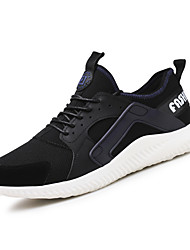 cheap -Men's Knit / Fabric Summer Comfort Athletic Shoes Running Shoes Black / Gray / Blue
