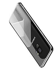 baratos -Capinha Para Samsung Galaxy S9 Plus / S9 Galvanizado / Ultra-Fina Capa traseira Estampa Geométrica Macia TPU para S9 / S9 Plus
