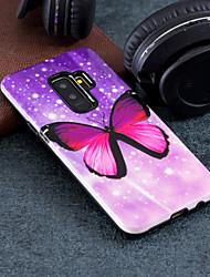 Недорогие -Кейс для Назначение SSamsung Galaxy S9 Plus / S9 С узором Кейс на заднюю панель Бабочка Твердый ПК для S9 / S9 Plus / S8 Plus