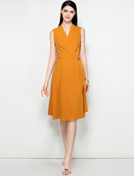 cheap -MARY YAN&YU Women's Basic / Street chic Swing Dress - Solid Colored Lace up