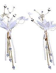 cheap -Polyester Headdress with Acrylic / Faux Pearl / Tassel 1 Piece Wedding / Casual Headpiece