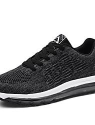abordables -Homme Chaussures Tulle Eté Confort Chaussures d'Athlétisme Course à Pied Noir / Bleu de minuit / Gris clair