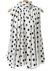 cheap -Women's Basic Shirt - Polka Dot Bow
