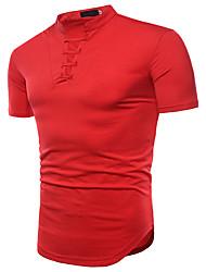 baratos -Homens Camiseta Básico Sólido