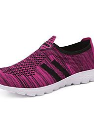 abordables -Mujer Zapatos Punto Verano Confort Zapatos de taco bajo y Slip-On Tacón Plano Gris / Morado / Fucsia