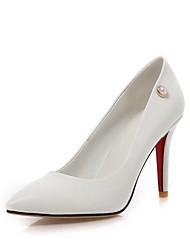 abordables -Femme Chaussures Similicuir Printemps Escarpin Basique Chaussures à Talons Talon Aiguille Bout pointu Imitation Perle pour Mariage