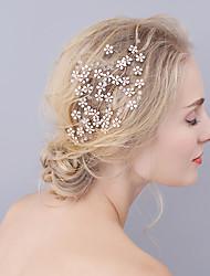 cheap -Rhinestone Hair Combs with Rhinestone / Flower 1 Piece Wedding / Party / Evening Headpiece