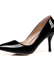 preiswerte -Damen Schuhe Kunstleder / Lackleder Frühling Sommer Pumps High Heels Walking Stöckelabsatz Spitze Zehe Rot / Rosa / Hautfarben / Hochzeit