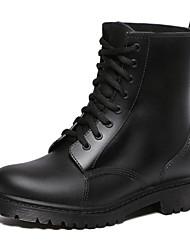 Недорогие -Жен. Обувь ПВХ Весна лето Резиновые сапоги Ботинки На толстом каблуке Круглый носок Сапоги до середины икры Черный / Лиловый / Красный