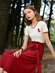 dfc8de3e6c96 Χαμηλού Κόστους Φούστες-Γυναικεία Γραμμή Α Βασικό Φούστες - Μονόχρωμο Ψηλή  Μέση