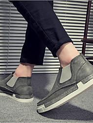 Недорогие -Муж. обувь Искусственное волокно Осень Удобная обувь Мокасины и Свитер Черный / Серый / Коричневый