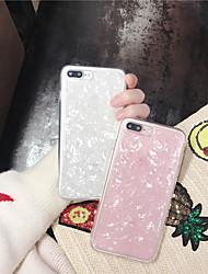 billige -Etui Til Apple iPhone X iPhone 6 Gennemsigtig Glitterskin Bagcover Glitterskin Blødt TPU for iPhone X iPhone 8 Plus iPhone 8 iPhone 7