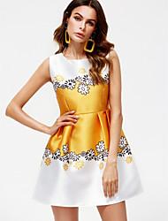 cheap -TS - Dreamy Land Women's cotton sheath dress - floral mini