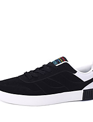 cheap -Men's Suede Spring / Fall Comfort Sneakers Red / Black / White / Black / Red