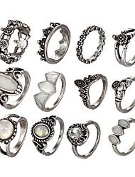 Недорогие -Черепаха Ring Set - Винтаж / Мода Серебряный Кольцо Назначение Валентин / Новый год