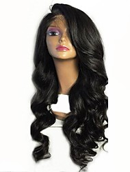cheap -Virgin Human Hair Full Lace Wig Malaysian Hair Wavy Wig Layered Haircut 130% With Baby Hair / For Black Women Black Women's Short / Long / Mid Length Human Hair Lace Wig