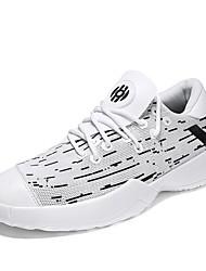 Недорогие -Муж. обувь Тюль Лето Удобная обувь Спортивная обувь Для прогулок Белый / Черно-белый / Черный / Красный