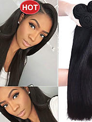 cheap -Indian Hair Straight Natural Color Hair Weaves / Costume Accessories / Bundle Hair Human Hair Weaves Soft / Easy dressing / Hot Sale