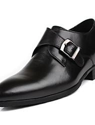povoljno -Muškarci Cipele Koža / Mekana koža Proljeće Udobne cipele Natikače i mokasinke Crn