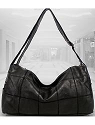 cheap -Women's Bags Genuine Leather Shoulder Bag Zipper Black / Dark Grey