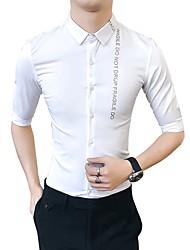 cheap -Men's Business Basic Shirt - Letter