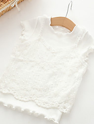 preiswerte -Kinder Mädchen Druck Kurzarm T-Shirt