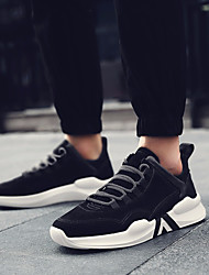 Недорогие -Муж. обувь Свиная кожа Осень Удобная обувь Кеды Черный Серый Хаки