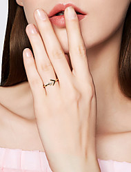 abordables -Femme S925 argent sterling Anneau ouvert - 1pc Triangle Mode / Coréen Or Bague Pour Valentin / Sortie