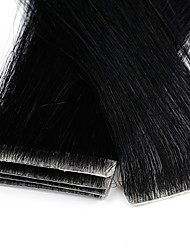 cheap -Neitsi Tape In Human Hair Extensions Straight Black Blonde Extension Remy Human Hair Brazilian Hair 1pack Party / Extention / New Women's