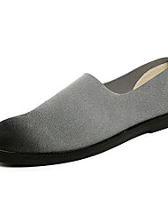 povoljno -Muškarci Cipele Nubuk koža Proljeće Udobne cipele Natikače i mokasinke Crn / Sive boje / Braon